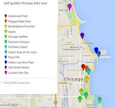 chicago zoo map self guided chicago bike tour free tours by foot