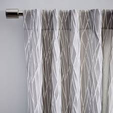 Black And Gray Curtains Crackled Glass Curtain West Elm
