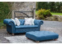 Leather Sofas Chesterfield by Dark Blue Leather 2 Seater Sofa Chesterfield