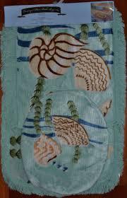 Seashell Bath Rug Seashell Bathroom Rugs Collection On Ebay