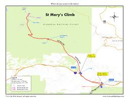 Idaho Falls Map St Marys Glacier Hike Near Idaho Springs
