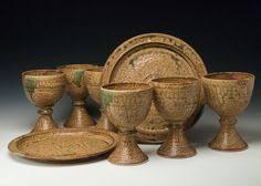 communion plates portable travel home communion sets wortman pottery duson la