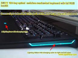 Keyboard Mechanical imk11 104 key optical switches mechanical keyboard with rgb