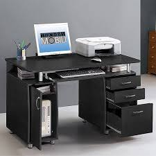 Computer Desks With Storage Techni Mobili Storage Computer Desk Espresso Walmart