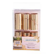 find the david tutera gold place card holders at michaels