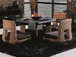 beautiful japanese interior style lacquered square oak wood dining beautiful japanese interior style lacquered square oak wood dining elegant dark room design with black wooden table and chairs wicker