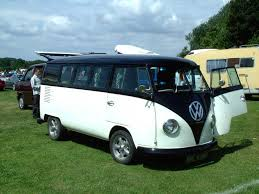 black volkswagen bus legendary vw split screen