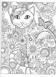 cat coloring pages for adults in page shimosoku biz