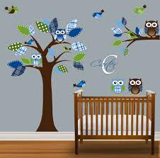 baby nursery decor amazingly cute owl theme baby boy nursery amazingly cute owl theme baby boy nursery decals green blue cloth leaf pattern on wooden floor crib