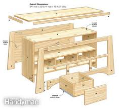 Free Woodworking Plans For Corner Cabinets by Diy Tv Stand Family Handyman