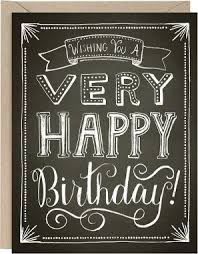 chalkboard happy birthday card paper source - Chalkboard Birthday Card