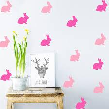 aliexpress com buy nordic style cartoon rabbit wall sticker home