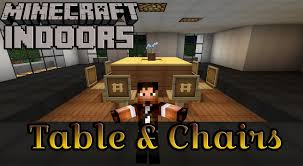 how to build a table and chairs minecraft indoors kitchen table