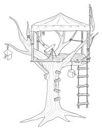 tree house 16 buildings and architecture u2013 printable coloring pages