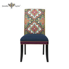 Chair Upholstery Mid Century Modern Fabric Patch Work Chair Dining Room Furniture