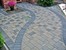 Decorative Stepping Stones Home Depot by Decor Lowes Patio Pavers With Interesting Edging And Mini Garden
