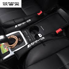 nouveau siege auto 2 pcs amg logo de voiture siège fente auto accessoires