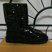 ugg s kintla boot 45 ugg boots black sparkle sequin ugg