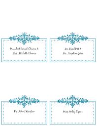card dinner place card template