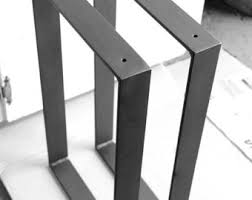 Flat Bar Table Legs Blacksmith Made One Pair Of 2