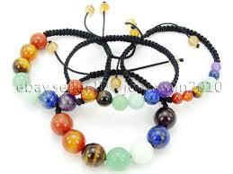 adjustable bead bracelet images Natural reiki chakra gemstones round beads handmade adjustable jpg