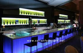 Translucent Corian Translucent Backlit Design Bar Counter For Restaurant Cafe Hotel
