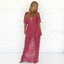 pink boutique dresses wine dine embroidered maxi dress in popping pink dainty