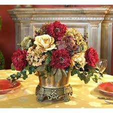 silk floral arrangements for dining room table s sdining tble silk