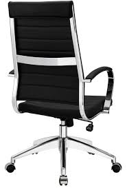 Black And White Desk Chair by Aria Leather High Back Office Chair Many Colors