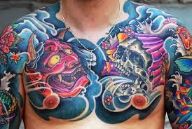50 japanese chest tattoos for masculine design ideas