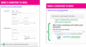 donation pages the donation