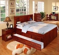 Full Bookcase Trundle Bed With Bookcase Headboard Foter