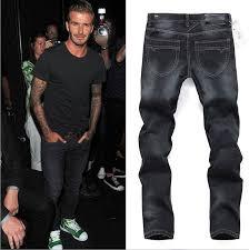 favorite classic rider mens denim blue black pants jeans ripped