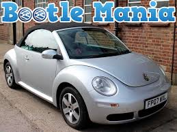 2007 volkswagen beetle 1 6 luna convertible silver with black hood