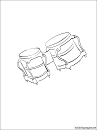bongo drum coloring page coloring pages