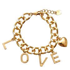 love charm bracelet images Gold tone love charm bracelet claire 39 s us jpg