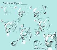 the poorly made wolf drawing tutorial by nobunnyvirus deviantart
