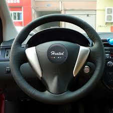 nissan altima 2013 hubcap price hand sewing nappa leather steering wheel cover for nissan teana
