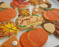 fall cookies etsy
