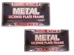ohio alumni license plate frame ohio state buckeyes license plate frame mirrored ohio state