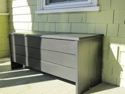 Outdoor Storage Box Bench Outdoor Storage Chest Bench Waterproof Intended For Decorating 26