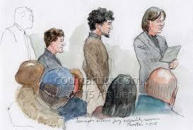 sketches of jury selection in boston marathon bombing trial