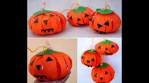pumpkin paper crafts ideas youtube