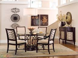 Natural Wood Dining Room Table by Small Square Dining Table Black Faux Leather Tall Backrest Chairs