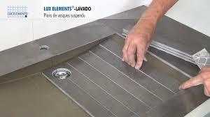 Meuble De Salle De Bain Design Italien by Lux Elements Montage Lavado Plan De Vasque Design Et