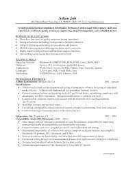 Sample Resume For Software Engineer With Experience In Java by Download Qa Test Engineer Sample Resume Haadyaooverbayresort Com