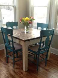 country kitchen table with bench farmhouse kitchen table chairs i like the wood table with the teal