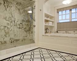 Carrara Marble Bathroom Designs by 30 Great Pictures And Ideas Basketweave Bathroom Floor Tile