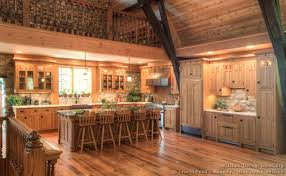 log cabin kitchen cabinets cabin kitchen design log home kitchen with red cabinets and vaulted