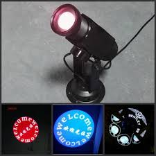 newest led projector customized 10w logo light led gobo text